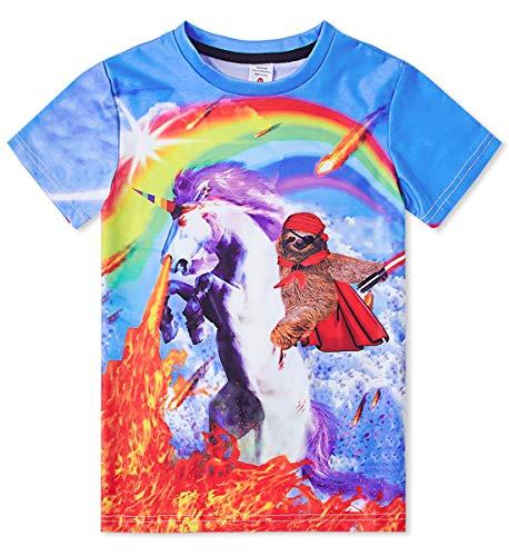 Idgreatim 3D Graphic T Shirts Jungen Mädchen Lässige Kurzarm Katze T Shirts Bluse Tops