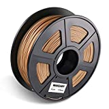 3d Drucker Filament WOOD 1.75mm, Makeasy Wood Filament 1.75mm, 3D Drucken Filament WOOD für 3D Drucker und 3D Stift, 1kg 1 Spool