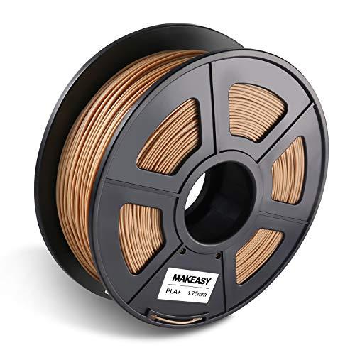 Filamento PLA+ Legno Wood 1.75mm, MAKEASY Filamento per Stampante 3D 1kg Spool 3D Printer (20{c4b19afeca042e64f59c3d49a0d973880e371d9c8f2220d0958ae2210c3f97be} Legno)