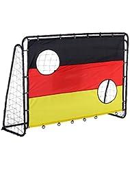 Fußballtor mit Torwand Deutschland Fußballnetz mit Tornetz 213 X 150 X 75cm NEU