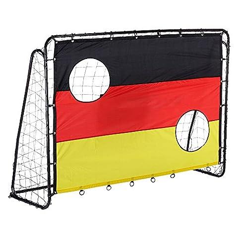 Fußballtore,2 in 1 Zielschuss Fußball Fußball Tore (Freistehende Tor)