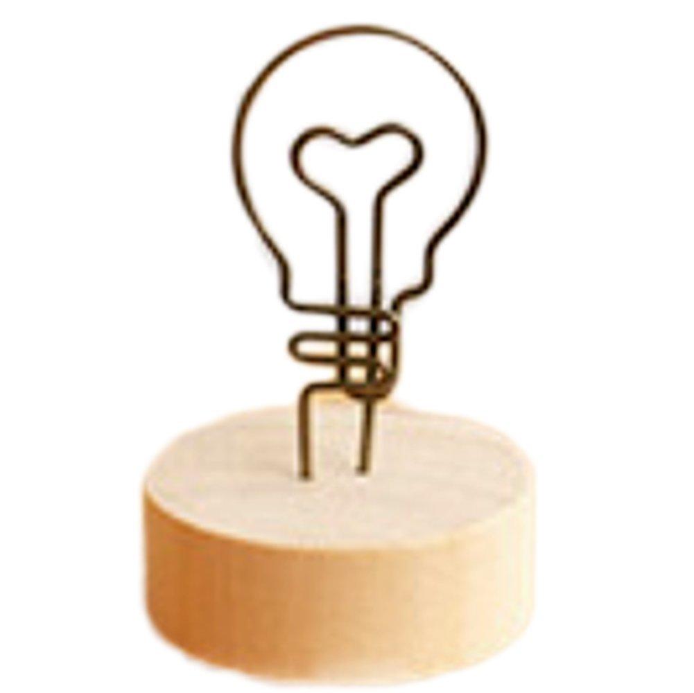Itemer Paper/card/photo/Note clip a base di legno memo clip porta foto Light