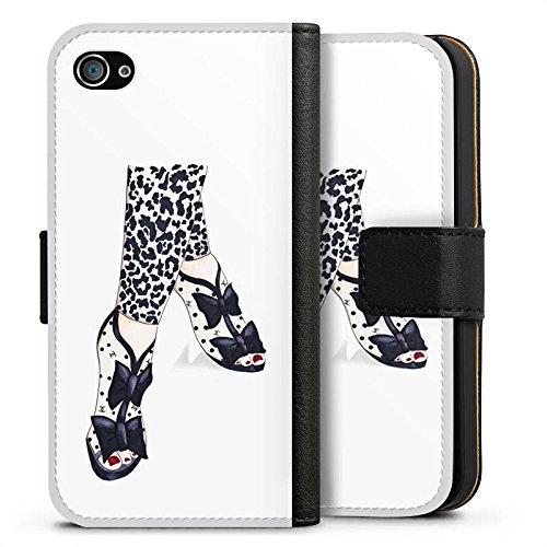 Apple iPhone X Silikon Hülle Case Schutzhülle Schwarz Schuhe marenkruth Sideflip Tasche schwarz
