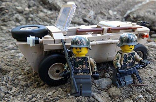 Modbrix 2188 – ☠ Bausteine VW Typ 166 Schwimmwagen XX Divison inkl. Custom Elite Wehrmacht Soldaten aus Lego© Teilen ☠ - 3
