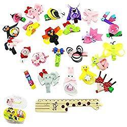 24 Pcs Lot Baby Children Toddlers Girls Grosgrain Ribbon Cute Owl Piggy Penguin Hair Bows Alligator Hair Clips Animal Hair Accessories With 2 Layer Gift Box (24 Pieces)