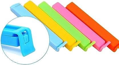 SAIYU Sealing Clips 36 Stück 6 Größen Plastic Clip Bunte Clip Clamp Sealer für Essen und Snack Bag