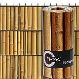 Sichtschutzstreifen mit Motiv/M-tec Print ® / PVC/Bambus Motiv ✔ für 9 Reihen im Zaunfeld ✔ für Doppelstabmattenzaun ✔ - SIE KAUFEN Hier DIREKT BEIM Hersteller -