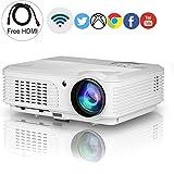 Sans fil Projecteur HD 1080p Soutien, EUG 3200 Lumen LCD LED Numérique