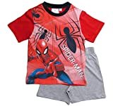 Spiderman Pyjama Kollektion 2018 Shortie 98 104 110 116 122 128 Shorty Kurz Jungen Sommer Neu Schlafanzug Marvel Ultimate Amazing (Rot-Grau, 128)