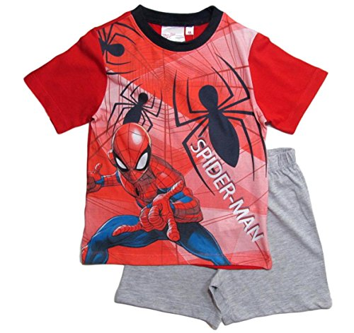 Spiderman Pyjama Kollektion 2018 Shortie 98 104 110 116 122 128 Shorty Kurz Jungen Sommer Neu Schlafanzug Marvel Ultimate Amazing (Rot-Grau, 98)