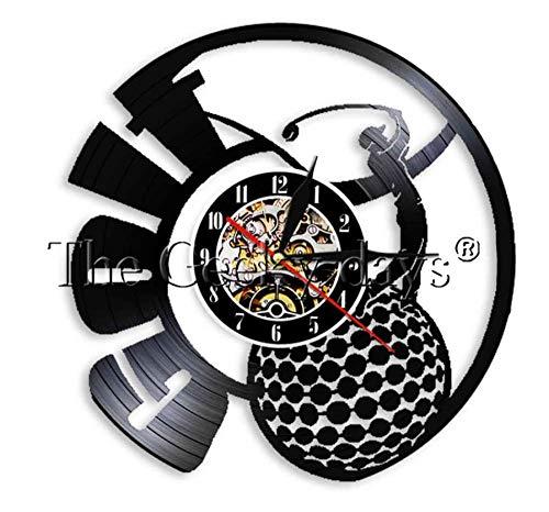 CQAZX 1Piece Play Golf Disco de Vinilo Reloj de Pared Decoración para el hogar Deporte al Aire Libre Reloj Reloj de Pared Arte Regalo para Jugador de Golf