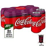 Coca-Cola Zero Cherry 8x 330ml - Coca-Cola zuckerfrei mit Kirschgeschmack