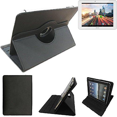 K-S-Trade Archos 80 Helium 4G Schutz Hülle 360° Tablet Case Schutzhülle Flip Cover für Archos 80 Helium 4G, schwarz. Tablet Hülle drehbar Standfunktion Ultra Slim Bookstyle Tasche Ku