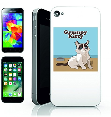 Smartphone Case Gatto-ritratto dell animale domestico Mieze Animali fressen Stubentiger-Pigro Gatto Pelliccia Animale Male Laune-Grumpy Cat per APPLE IPHONE 4/4S, 5/5S, 5 C, 6/6S, 7 & Samsung Galax