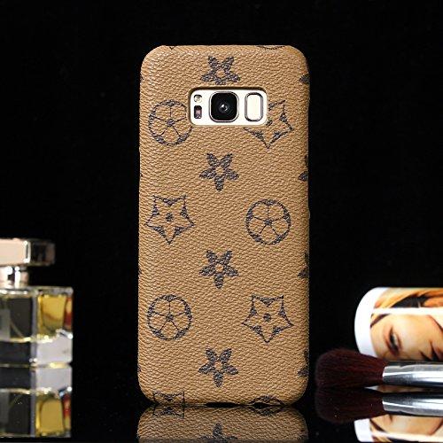Heil S8Classic (Schnell Uns Liefern Garantie Erfüllt von Amazon) Neuen Eleganten Luxus PU Leder Wallet Style Flip Cover Fall für Samsung Galaxy S8S 8Nur, Khaki Monogram