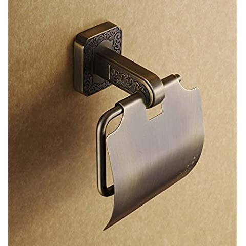 MSAJ-Antiguo soporte de tejido Europeo, tallado Porta-rollos de papel higiénico vintage