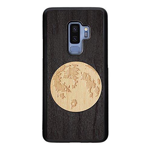 Glow-finish (SmartWoods Glow Gehäuse beleuchtet Nachtleben für Samsung S9Plus, Schutzhülle aus Holz Natur, Schutzhülle aus Holz für Smartphone, Rahmen Telefon aus Holz, Hochgezogene Spielfeldecken Finish Mate)