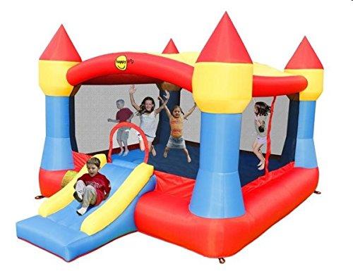 Happy-Hop-Ancora-pi-grande-e-colorato-del-Big-Clown-Castello-XXL-lo–di-nome-e-di-fatto-Presenta-la-pi-ampia-superficie-per-saltare-corredata-da-un-piccolo-scivolo-centrale-che-lo-rende-adatto-per-gra