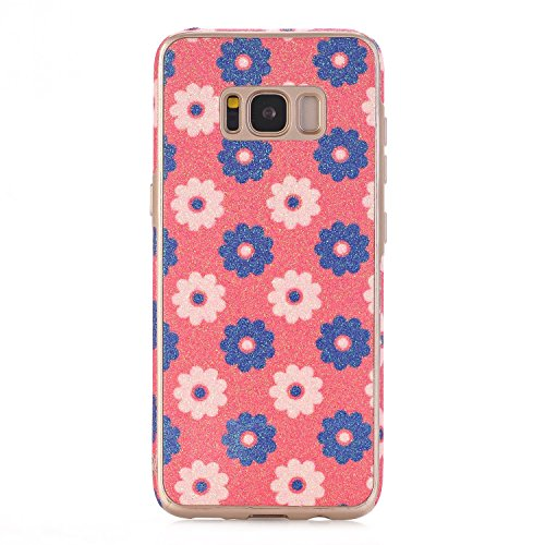 elecfan Ultra Fine en silicone souple Motif fleurs TPU Coque pour Samsung Galaxy Galaxy S8 Plus A08