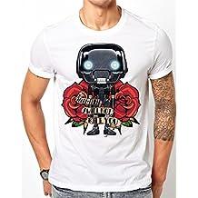 Star Wars Rogue Uno–k-2so tatuaje estilo camiseta de color blanco, negro, small