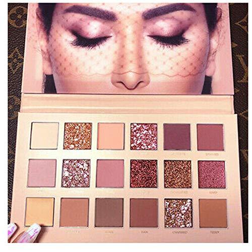 ZITOOP Palette de fard à paupières texturée Huda Beauty, couleur or rose, maquillage, 18 nuances de fards à paupières