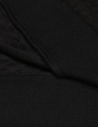 Unibelle Herren Casual Sweatshirts Contrast Color Textured 1_Schwarz