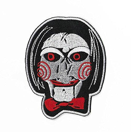 Saw Billy The Puppet Patch (8,9cm) DIY Nähen oder Bügeln bestickt auf Badge Aufnäher Horror Film Souvenir Puzzle Kramer Serie Kostüm