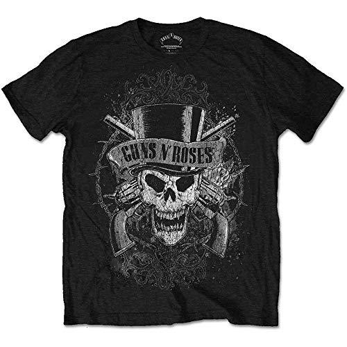 Official Guns N Roses Faded Skull T-Shirt -