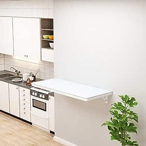 Deevin Tavolo Ribaltabile A Muro Ribaltabile Scrivania Salvaspazio Tavolo da Pranzo Cucina Scrivania per Bambini in Legno