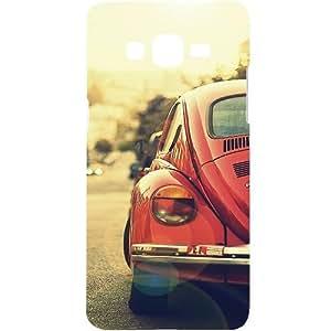 Casotec Vintage Car Pattern Design Hard Back Case Cover for Samsung Galaxy Grand Prime G530