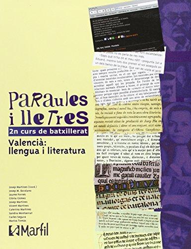 Bach 2 - Paraules I Lletres 2 Batxillerat Pau (valencia) - 9788426815217 por Aa.Vv.