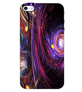 PrintDhaba NEW ERA ART D-7077 Back Case Cover for APPLE IPHONE 5S (Multi-Coloured)