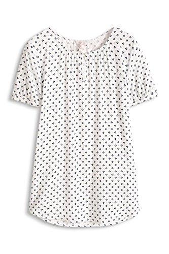 ESPRIT Damen Bluse Mehrfarbig (OFF WHITE 110)