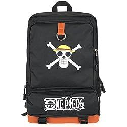 CoolChange Mochila de One Piece con Jolly Roger de la Tripulación de Piratas Sombrero de Paja