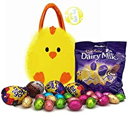 Easter Egg Hunt Chick Bag Including Cadbury Creme Eggs, Galaxy Egg, Dairy Milk Eggs & More