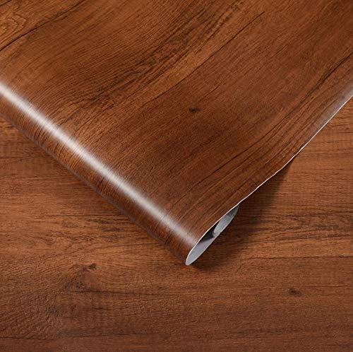 Wasserdichte Pvc Holz-druck Aufkleber Nachahmung Holz-gedruckt Aus Klebrigen Tapete Schrank Schrank Tisch Alte Tür Möbel Renovierung Tapete 5m X 60cm Birnenholz