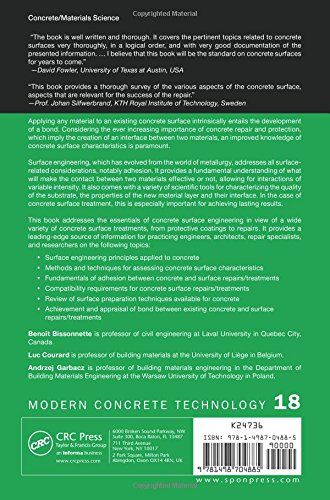Concrete Surface Engineering (Modern Concrete Technology)