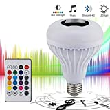 LAMPADINA BLUETOOTH LED RGB MINI CASSA SPEAKER MINICASSA LAMPADA E27 TELECOMANDO