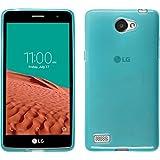 Funda de silicona para LG L Bello 2 / L Bello II - transparente turquesa - Cover PhoneNatic Cubierta + protector de pantalla