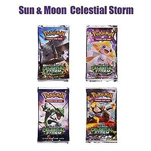 324 Piezas Pokemon Cartas, Juego de Cartas, Tarjetas de Pokemon, 36 Piezas GX Cartas, Sun & Moon Series y TeamUp Series