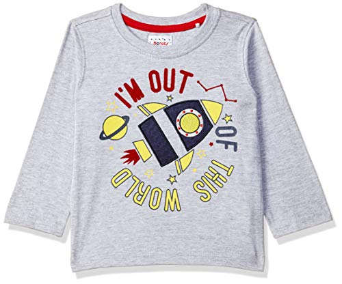 Donuts by Unlimited Baby Boys' T-Shirt (276920887_Grey_12M_Grey_12m)