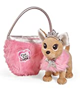 Chi Chi Love Beauty Princess ancora più bello e tenero Versione Beauty Princess ha la coroncina e il mantello di pelliccia Chi Chi Love borsa di pelliccia rosa