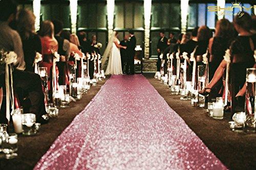 Pailletten Gang runner-3ftx15ft Hochzeit Pailletten Teppich Gang Läufer für Hochzeit/Party Event, Polyester-Mischgewebe, Fuchsia, Sequin Aisle Runner 3FTx15FT