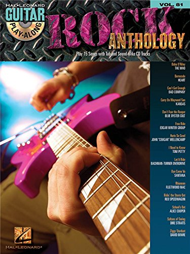 Guitar Play-Along Volume 81: Rock Anthology. Partitions, CD pour Guitare, Tablature Guitare
