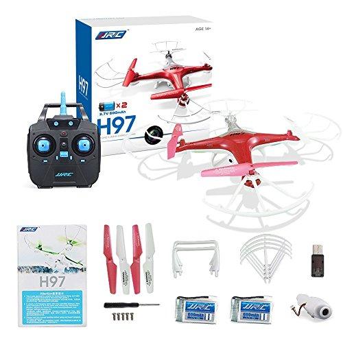 Preisvergleich Produktbild JJRC H97 RC Drone mit Kamera RTF Quadcopter (3D Flip Kopflosmodus Ein-Taste Rückkehr 2.4G 6 Achsen) RC Quadcopter mit 2 x Batterie / Schraubendreher