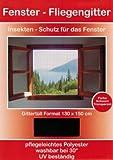 Fliegengitter Fenster 130x150 schwarz Insektenschutzfenster Stechmückenschutz