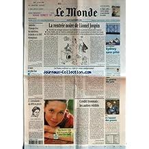 MONDE (LE) [No 17305] du 14/09/2000 - AUTRICHE - L'EUROPE LEVE LES SANCTIONS, LA DROITE ET LE FPO TRIOMPENT +¼ L'EURO AU PLUS BAS +¼ L' INTENDANTE DU RPR EN PROCES - LOUISE YVONNE CASETTA +¼ LA RENTREE NOIRE DE LIONEL JOSPIN +¼ LA France A DETRUIT SES 1098281 MINES ANTIPERSONNEL PAR JACQUES ISNARD +¼ CREDIT LYONNAIS - LES AUTRES VERITES PAR LAURENT MAUDUIT +¼ JEUX OLYMPIQUES - SYDNEY SANS PITIE +¼ CINEMA - LA GUERRE DES PRIX +¼ GOLF - A L'ASSAUT DES GREENS.