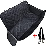 travel inspira Dog Seat Cover for Pets Pet Hammock for Cars SUV Trucks Waterproof Nonslip with Car Seat Belt & Side Flaps for Dogs
