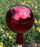 Gartenkugel (R23) Rosenkugel Gartenkugeln Glas 20 cm groß (auch mit Rosenkugelstab -Gartenstecker erhältlich)