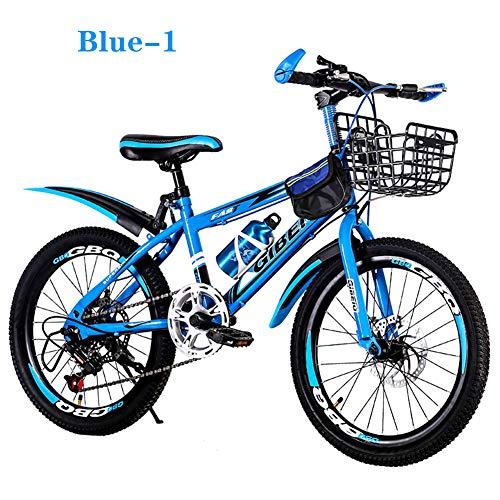 1/7 Geschwindigkeit Kinderfahrräder Fahrräder 20 Zoll Mountainbikes Für Jungen Und Mädchen Blau Rot,Blue_1,7_Speed (Speed-cruiser-fahrrad-teile Ein)